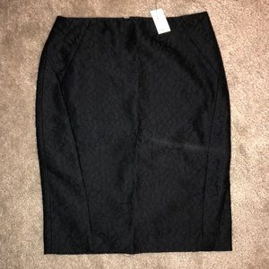 The Limited Black Lace Pencil Skirt